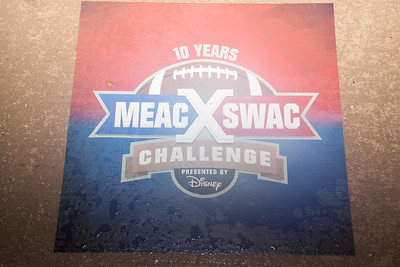 AAMU  welcomes Mickey at the SWAC MEAC Challange
