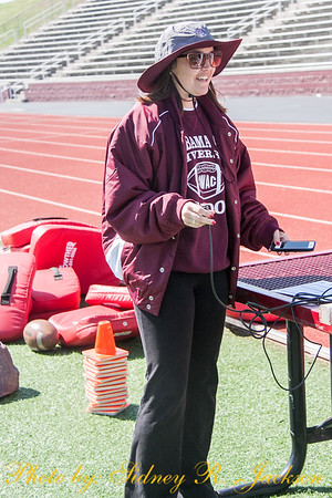 AAMU 2015 Football spring first day of pads